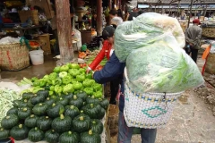 Grosseinkauf im Markt von Lijiang