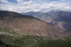 Kultivierte Landschaft in Mitten trockner Berge