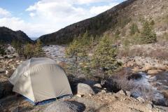 Campsite am Fluss