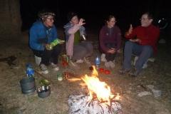 Wärmendes Feuer am Abend...
