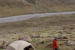 5 Stern Camping auf dem einzigen flachen Fleck weit und breit.