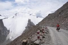 Hier im Norden von China reichen die Gletscher bis weit unter 4000m.
