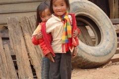 Kinder am Strassenrand - Laos