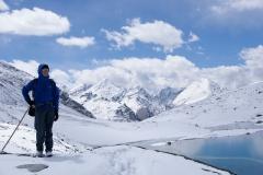 Shingo-La - letzter 5000m Pass bevor wir einige Tage später bei 40°C in Dehli ankommen.