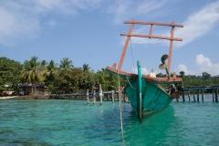 Relaxen auf kleiner Insel in Kambotscha