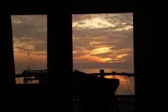 Sonnenuntergang von unserem Bungalow