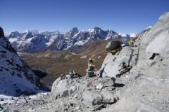 Aussicht vom Cho La Pass