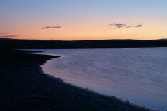 Verdientes Bad im See nach langer Fahrt durch das heisse Kasachstan.