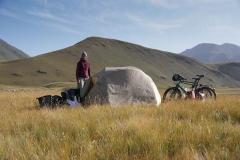 Camping vor dem Tosor Pass.