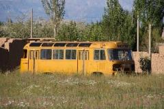 Ausrangierter Schulbus