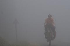 Passankunft im Nebel