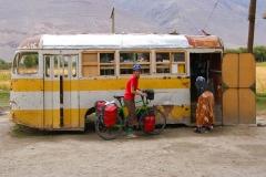 Umfunktionierter Bus