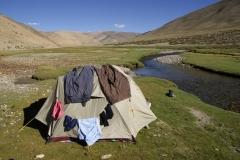 Wasch- & Badetag auf 4900m bei angenehmen Temperaturen