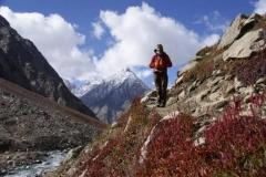 Herbstlandschaft beim Abstieg