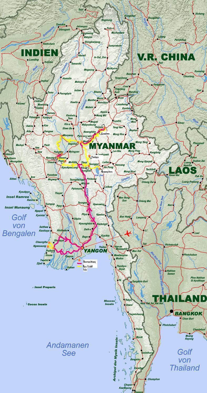 Karte Myanmar.Karte Myanmar Sinvia Ch