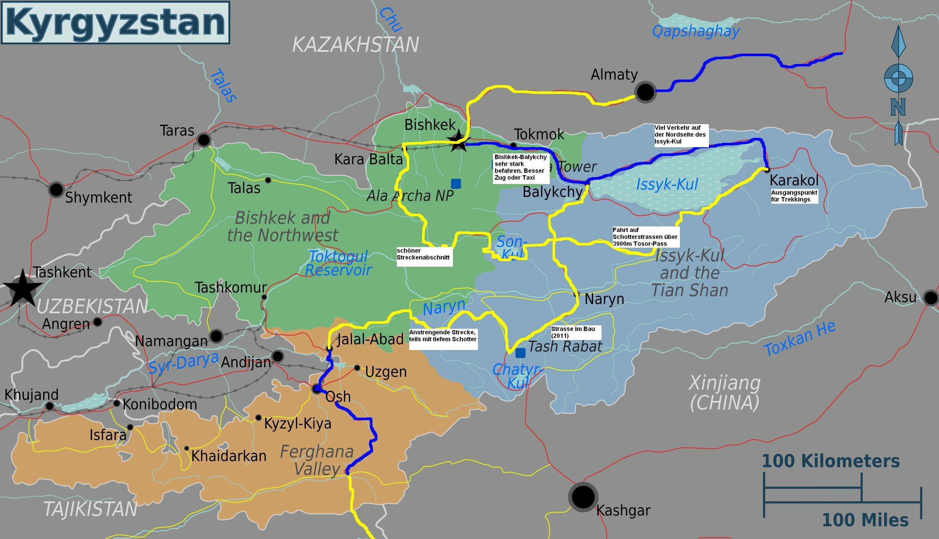 Veloland Kirgistan | SINVIA.CH
